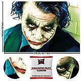 GREAT ART Fototapete The Joker 210 x 140 cm – Film Charakter Wandbild Heath Ledger Clowns DC Comic Antiheld Held Filmplakat Wandtapete – 5 Teile Tapete inklusive Kleister