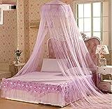Wsreyj Moskitoschutzhaus Bettwäsche Dekor Sommer Sweet Style Rundbett Baldachin Kuppel Moskitonetz-Purple_60Cm_X_280Cm_X_850Cm