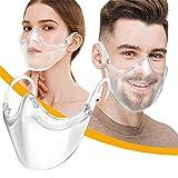 Lulupi Gesichtsschild Mundschutz Multifunktionstuch Transparent Wiederverwendbar Face Schutz Visier Kunststoff Mund-Nasenschutz Gesichtsschutz Waschbare Bequem Bandana Maske Halstuch Schals