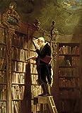 1art1 Carl Spitzweg - Der Bücherwurm, 1850, 2-Teilig Fototapete Poster-Tapete 250 x 180 cm