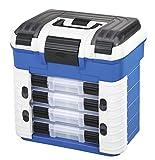 Plastik Panaro Angelkoffer 502, zum Transportieren, Schützen und Organisieren der Ausrüstung, blau, Außenmaße 420 x 303 x 400 mm