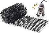 Kyrieval Dornengitter Tier-Barriere Garten Katze Tierabwehr Scat Spike Matte, Anti-Katzen-Netzwerk Graben Stopper Prickle Strip Home Spike Matte 78'x12'