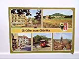 AK Görlitz Grüße aus...Mehrbildkarte, Zierbrunnen, Landeskrone, Straßenbahn Oldtimer und Altstadt, Gelaufen.