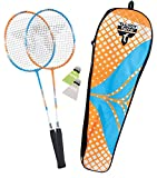 Talbot Torro Badminton-Set 2-Attacker, 2 Schläger, 2 Federbälle, in wertiger Tasche, 449402