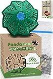 PandaBaw® Öko Waschball - [BONUS WÄSCHENETZ & EBOOK] - Waschen ohne Waschmittel - Waschkugel für Waschmaschine - Bio Waschmittel für Allergiker, Kinder & Umwelthelden – Wäscheball Zero Waste Produkte