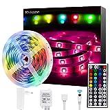 LED Strip,Ksipze 5m RGB LED Lichterkette mit Fernbedienung Farbwechsel 5050 LED Streifen für die Beleuchtung von Häusern Küchenbett TV
