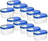 Kigima Gewürzdosen Schüttdosen Streudosen Vorratsdosen 0,14l 12er Set blau