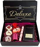 BRUBAKER 8 teiliges Bio Badepralinen Geschenkset'Deluxe Cranberry' - Edel - Vegan - Natürliche Inhaltsstoffe