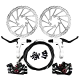 Yorbay Fahrrad Scheibenbremse Set, 160mm Scheiben und vorne hinten Bremse mit BB5 Bremsbeläge und Kabel (Schwarz) (Mehrweg)