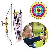 Womdee Kinder Bogenschieß-Set, Bogenschießen und Pfeil Set – Bogenschießen Set für drinnen und draußen Spaßspiel für Kinder – Jagdserie Spielzeug mit Bogenschießzubehör Gold