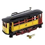 Mini Wind-up Straßenbahn Trolley Blechspielzeug Sammlerstück Spielzeug - 17,5 x 5,5 x 6,5 cm