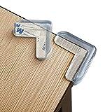 24 Stück| Eckenschutz Kantenschutz für Baby & Kindersicherung, L-Förmig - für Tisch und Möbel Ecken - Transparent, Hochfester Klebstoff, Einfach zu Installieren.