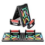 MILFECH Push up Board 12 in 1 Liegestützgriffe Faltbare Gymgrizzly Multifunktionale Bracket Brett mit Liegenstütze Indoor Muskeltraining System für Arm Schulter Brust und Rücken