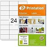 Universal Etiketten 2400 Stk. 70 x 36 mm Internetmarke weiß - 70x36 Aufkleber auf 100 DIN A4 Bogen 3x8-3475 3490 6122 4453 la131 la132