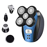 Electric Shaver for Men Electric Razor Bald Head Shaver 5 in 1 Grooming Kit Rechargeable Beard Trimmer with Pop-up Trimmer