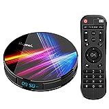 Bqeel Android TV Box 4K Smart tv Box【4G+32G】 R1 PRO Android 10.0 TV Box mit RK3318 Quad-Core 64bit Cortex-A53/ unterstützt WiFi 2.4G/5.0G /Bluetooth 4.0/ 4K/HD/ USB 3.0/H.265 Android Box