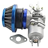 GOOFIT Tuning Vergaser mit Luftfilter für 2 Takt 47cc 49cc Mini ATV Quad Dirtbike Pocketbike