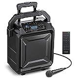 Bomaker Tragbar PA-Anlage,500W Karaoke Anlage Bluetooth DJ Party-Lautsprecher mit Akku,Mikrofon&Fernbedienung,6 EQ Modi,Surround Sound System,kompatibel mit Gitarre,AUX,USB,FM