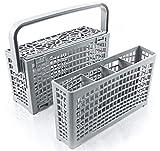 Original Plemont Besteckkorb für die Spülmaschine Maße 23x 8,5 & 4,5x 13,5cm Spülmaschinenkorb mit innovativer 2 in 1 Lösung. Spülkorb für Geschirrspüler Spülmaschine mit hitzebeständigem Kunststoff