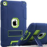 BENTOBEN iPad Air 2 Hülle, iPad Air 2 Schutzhülle, iPad Air 2 Tablet Tasche mit Ständer Heavy Duty 3 in 1 Hybrid Case PC Silikon Cover rutschfest stoßfest Hülle für iPad Air 2 (A1566 / A1567) Blau