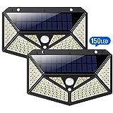 Solarleuchten für Außen 150 LED, HETP【6 - Seitliche-Beleuchtung】Solarlampen für Außen mit Bewegungsmelder【Superhelle 1500LM】Solarlampe Wandleuchte Wasserdicht Wireless - 3 Verschiedene Licht