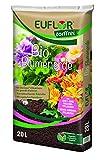 Euflor Bio Blumenerde torffrei 20 L Sack aus 100% nachwachsenden Rohstoffen, für Beet- und Balkonpflanzen, Grunddüngung mit 12 Wochen Langzeitwirkung