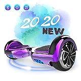 SOUTHERN-WOLF Hoverboard Self-Balancing Scooter, 6,5zoll Hover Scooter Board Bluetooth Scooter mit bunten Lichter Bluetooth eingebaute Geschenk für z29 (Purple)