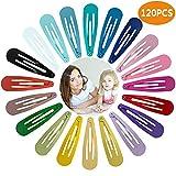 Viccess 120 Stück Haarspangen Mädchen haarclips mädchen set Kinder Haarklammern (20 Farben) Geeignet für alltägliche Anlässe und Feste
