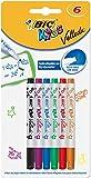 BIC Kids Marker Mini Velleda, Whiteboard Marker, in 6 Farben, Leicht trocken abwischbar und geruchsarm