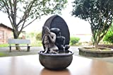 Zen'Light Brunnen Buddha Grace, Harz, Bronze, 26 x 26 x 40 cm
