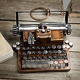 Ggoddess Schreibmaschine, Retro Metal Vintage Handicrafts, Antike Schreibmaschine, Deko Bastelgeschenk für Zuhause, A Typ (Nur Modell, kann Nicht tippen)