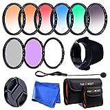 K&F Concept® Slim Objektiv Filter Set 58mm UV CPL FLD 9 teiliges