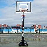 SUON Basketballständer Höhenverstellbar Von 120 Bis 210 cm Kinder- Basketballkorb Mit Rädern Und Schutzhülle Kinder Erwachsene Basketballanlage (Color : White)