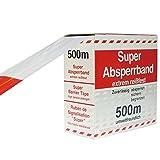 Rot/weißes Flatterband Absperrband im Karton 80 x 500 mm*