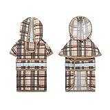 KOOLTAIL Hunde-Regenmantel mit Kapuze und Reflektorstreifen, wasserdicht, verstellbar, leicht, atmungsaktiv, Regenjacke für kleine, mittelgroße und große Hunde, XL(Neck 20.4' Chest 31.5')