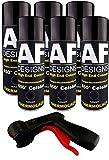 Alex Flittner Designs Thermolack Spray 6 Spraydosen Ofenlack Auspufflack Plus Spraydosengriff schwarz