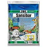 JBL Sansibar White 67055, Bodengrund Weiß für Süßwasser-Aquarien, 5 kg