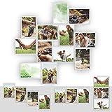 Kunststoff Bilderrahmen Fotorahmen Collage zum individuellen gestalten 12x 13x18cm Weiß mit Normalglas und Klammern