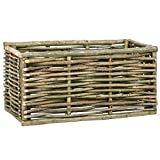 Galapara Hochbeet aus Holz, Gartenbeet Pflanzkübel Kräuterbeet Hochkübel aus Haselnussholz für Garten Terrasse Balkon - Pflanzkübel als Gemüse Beet, 80×40×40 cm