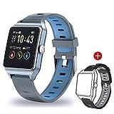 Smartwatch GPS Sportuhr, Fitness Armbanduhr 1,3 Zoll Touchscreen Laufuhr GPS Fitness Smartwatch mit Pulsmesser, GPS-Uhr mit schwimmenmodi Smart Notifications 5ATM wasserdicht für Damen Herren Kinder