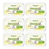 Vitaquell Omega 3 Pflanzen-Margarine (6 x 250 g) mit essentiellen Fettsäuren und DHA