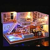Hanks' Shop DIY Minihaus Paulclub Treffen Sie Holzhaus Möbel DIY Miniatur-Haus Puppenhaus Spielzeug