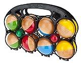 GICO Boccia Spiel aus Massivholz, 8 Kugeln, Durchmesser 7 cm - 3011