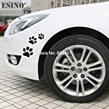 BLOUR 6 x lustige kreative schöne Auto Aufkleber Hund Katze Pfoten Haustier Tier Fußabdrücke Dekoration Auto Ganzkörper Aufkleber AufkleberVinyl