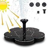 Migimi Solar Springbrunnen, Solar Teichpumpe Outdoor Wasserpumpe Garten Solarpumpe mit 1.4W Monokristalline Solar Panel Brunnen für Gartenteich, Vogel-Bad, Fisch-Behälter, Kleiner Teich