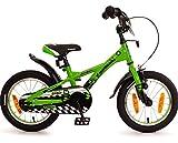Fahrrad 14 Zoll Jungen Rücktritt Kinderfahrrad Jungenfahrrad Kawasaki Grün Kinderrad