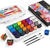 Magicfly Gouache Farben Set, 24 Farben x 30 ml Tragbarer Gouache Paints für Künstler, Studenten, Kinder