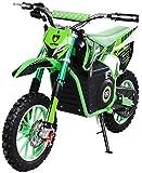 Actionbikes Motors Mini Kinder Crossbike Viper 1000 Watt - 36 Volt - Wave Scheibenbremsen - 3 Geschwindigkeitsstufen - Pocket Bike - Motorrad - Motocross - Dirtbike - Enduro (Viper 1000 Watt Grün)