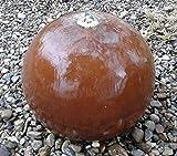 garten-wohnambiente Kugelbrunnen 40 cm mit LED Cortenstahl Roststahl Kugel Wasserspiel