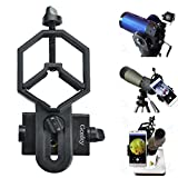 Solomark Universal Telefon Adapter und Mount Stativ-Halterung für Smartphone Sony Samsung Moto - Kamera- Spektiv/Teleskop/Mikroskop/Ferngläser (2 Bity Type)